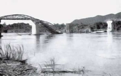 Bridge on the river kwai bombed