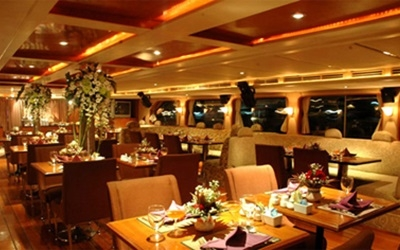 Inside the River Dinner Cruise Boat