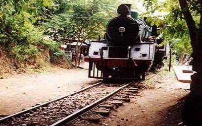 Jap train on the Death Railway