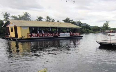 Part Barge on River Kwai