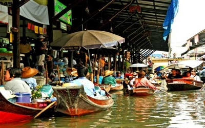 Tour Floating Market by boat