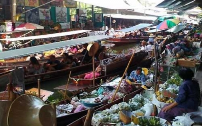Floating Market market