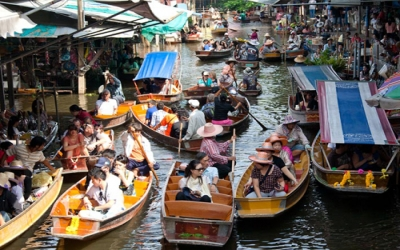 Floating Market tour by boat