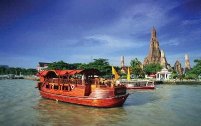Rice Barge on the Chao Phraya